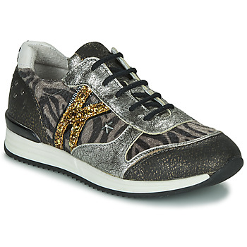 Chaussures Fille Baskets basses Ikks WHITNEY Gris / Or