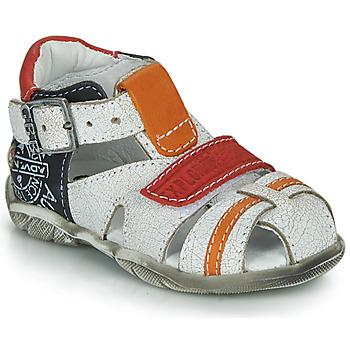 Chaussures Garçon Sandales et Nu-pieds GBB MELVIL Blanc / Rouge / Orange