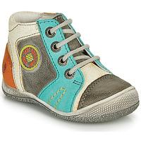 Chaussures Garçon Boots GBB MONTGOMERY Gris / Bleu