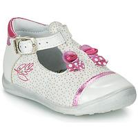 Chaussures Fille Sandales et Nu-pieds Catimini CALATHEA Blanc / Rose