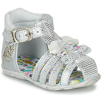 Chaussures Fille Sandales et Nu-pieds Catimini CYGNE Argenté