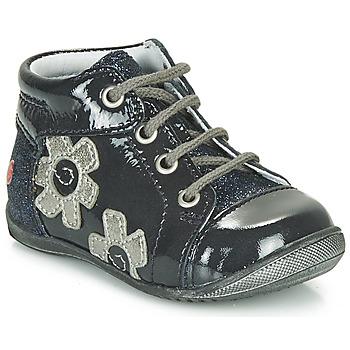 Chaussures Fille Baskets montantes GBB NEIGE Marine / Argenté