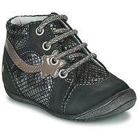 Chaussures Fille Boots GBB NOEMIE Noir / Argenté