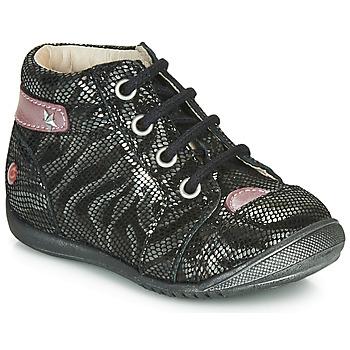 Chaussures Fille Boots GBB NICOLE Noir / Argenté