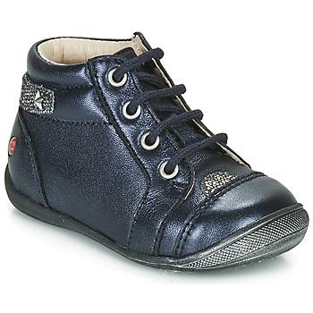 Chaussures Fille Boots GBB NICOLE Marine / Argenté