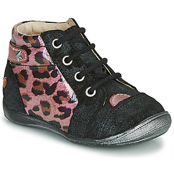 Chaussures Fille Boots GBB NICOLE Noir / Rose