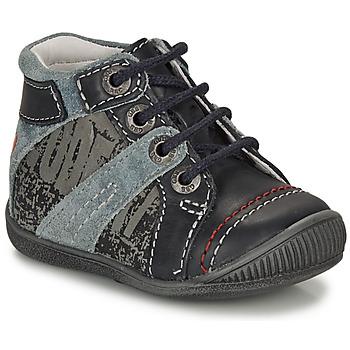 Chaussures Garçon Boots GBB NOLAN Gris / Bleu