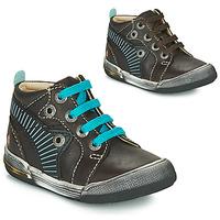 Chaussures Garçon Baskets montantes GBB NOAH Marron / Bleu