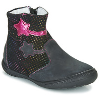 Chaussures Fille Boots GBB NADIA Noir / Rose