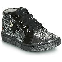 Chaussures Fille Baskets montantes GBB LETO Noir / Argent