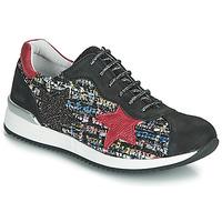 Chaussures Fille Baskets basses Achile LAURA Noir / Rouge / Multicolor