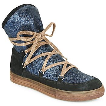 Chaussures Fille Bottes ville Achile ANGELA Bleu / Noir