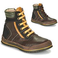 Chaussures Garçon Boots Achile MANUEL Marron / Jaune