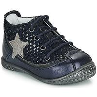 Chaussures Fille Boots Ikks SYDNEY Marine / Argenté