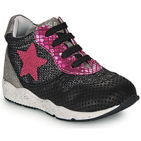 Chaussures Fille Baskets basses Ikks KAREN Noir / Rose