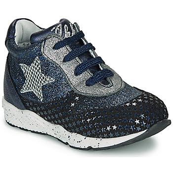 Chaussures Fille Baskets basses Ikks KAREN Bleu / Argenté