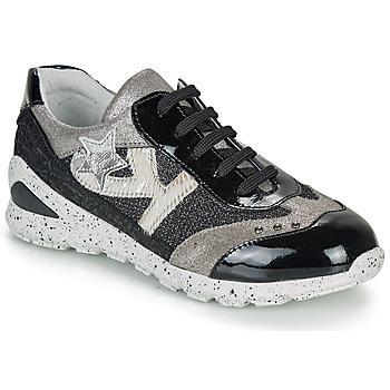 Chaussures Fille Baskets basses Ikks FIONA Noir / Argenté