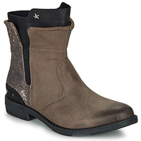 Chaussures Fille Boots Ikks PAMELA Taupe / Or