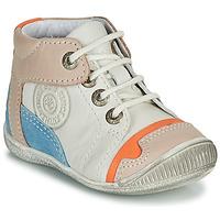 Chaussures Garçon Boots GBB PAOLO Blanc / Beige / Bleu