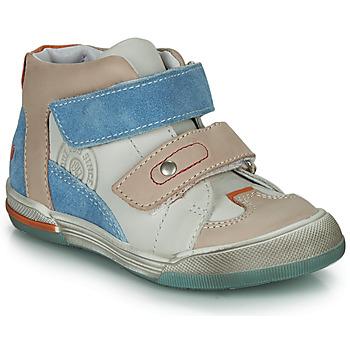 Chaussures Garçon Baskets montantes GBB PATRICK Gris / Bleu