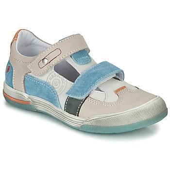 Chaussures Garçon Sandales et Nu-pieds GBB PRINCE Ecru / Beige / Bleu