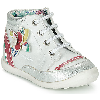 Chaussures Fille Boots Catimini POUSSIN Blanc