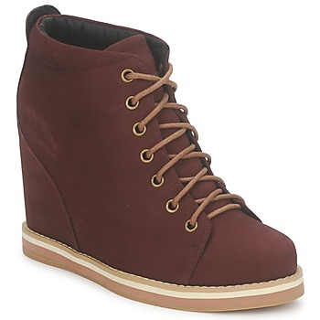 No Name WISH DESERT BOOTS Bordeaux