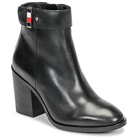 Chaussures Femme Bottines Tommy Hilfiger CORPORATE HARWARE BOOTIE Noir