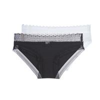 Sous-vêtements Femme Culottes & slips DIM SEXY FASHION X2 Noir / Blanc