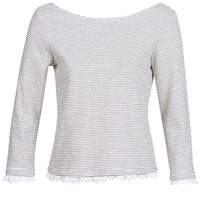 Vêtements Femme T-shirts manches longues Betty London KARA Blanc / Marine