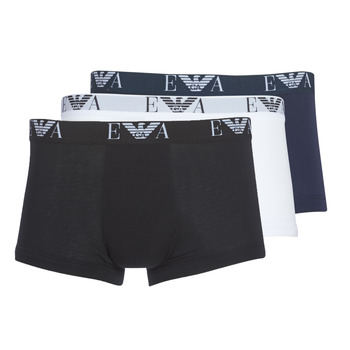 Vêtements Homme Boxers Emporio Armani CC715-111357-56110 Blanc / Noir / Marine