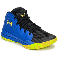 Chaussures Enfant Basketball Under Armour GS JET 2019 Bleu / Jaune