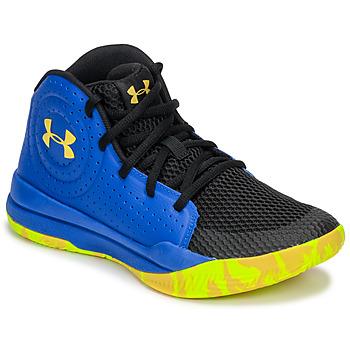 Chaussures Enfant Basketball Under Armour GS JET 2019 Bleu / Jaune