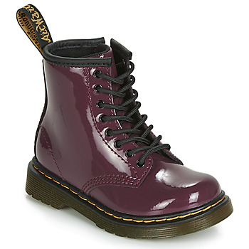Chaussures Fille Boots Dr Martens 1460 PATENT TODDLER Violet