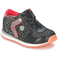 Chaussures Fille Boots Catimini CISTUDE CTV NOIR-FUSHIA DPF/2637