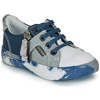 Chaussures Garçon Baskets basses Ikks BRANDON Bleu / Gris