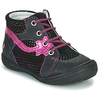 Chaussures Fille Boots GBB NORA Noir / Rose