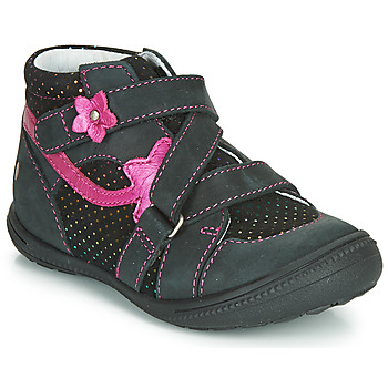 Chaussures Fille Boots GBB NINA Noir / Rose