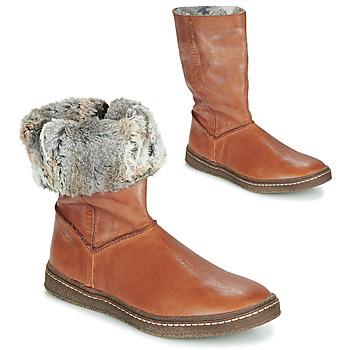 Chaussures Fille Bottes ville Achile DUBROVNIK Cognac