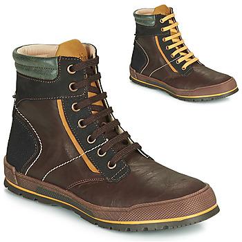 Chaussures Garçon Boots Achile MANUEL Marron