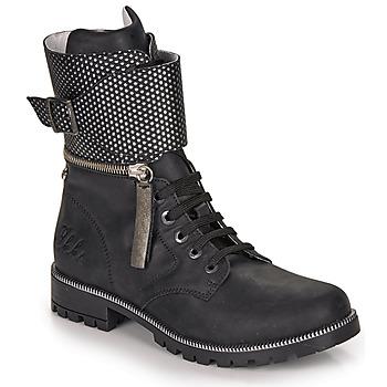 Chaussures Fille Bottes ville Ikks PEGGY Noir