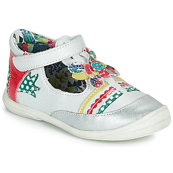 Chaussures Fille Ballerines / babies Catimini PANTHERE Blanc / Multicolor