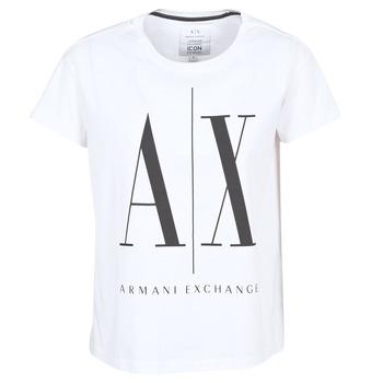 Vêtements Femme T-shirts manches courtes Armani Exchange 8NYTCX-YJG3Z-5102 Blanc