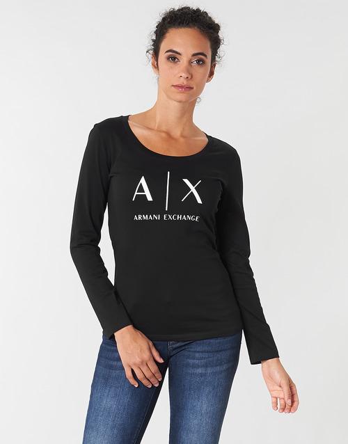 Vêtements Femme T-shirts manches longues Armani Exchange 8NYTDG-YJ16Z-1200 Noir