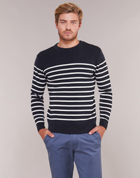 Vêtements Homme Pulls Armor Lux MARIO Marine / Blanc