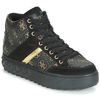 Chaussures Femme Baskets montantes Guess FIXIN Noir