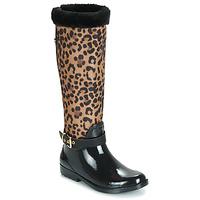 Chaussures Femme Bottes de pluie Guess CICELY Noir / Léopard