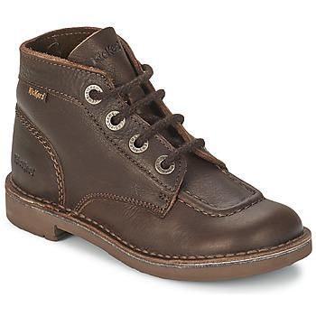Chaussures Enfant Boots Kickers KICK COL Brun
