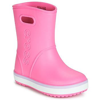 Chaussures Fille Bottes de pluie Crocs CROCBAND RAIN BOOT K Rose