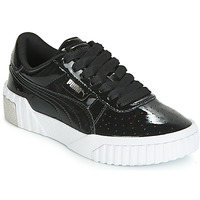 Chaussures Fille Baskets basses Puma CALI PATENT JUNIOR Noir